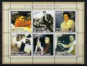 Ivory Coast 2002 Elvis Presley 25th Death Anniversary #1 perf sheetlet containing 6 values unmounted mint