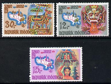 Indonesia 1969 Tourism in Bali set of 3 unmounted mint, SG 1234-36*