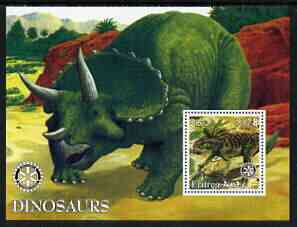 Eritrea 2002 Dinosaurs perf m/sheet with Rotary Logo unmounted mint