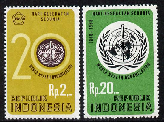 Indonesia 1968 Anniversary of v set of 2, SG 1191-92 unmounted mint*