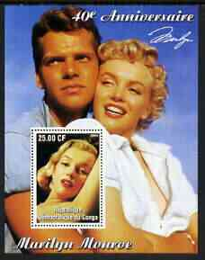 Congo 2002 40th Death Anniversary of Marilyn Monroe #08 perf m/sheet unmounted mint