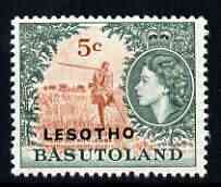 Lesotho 1966 Herd Boy Playing Lesiba 5c (wmk Script CA) unmounted mint, SG 115A*