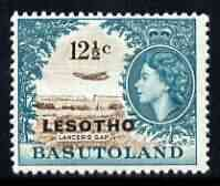 Lesotho 1966 DH-106 Comet over Lancers Gap 12.5c (wmk Script CA) unmounted mint, SG 117A