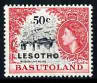 Lesotho 1966 Mission Cave House 50c (wmk Script CA) unmounted mint, SG 119A*