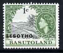Lesotho 1966 Orange River 1c (wmk Block CA) unmounted mint, SG 111B*