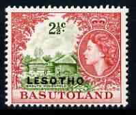 Lesotho 1966 Basuto Household 2.5c (wmk Block CA) unmounted mint, SG 113B*, stamps on tourism, stamps on housing