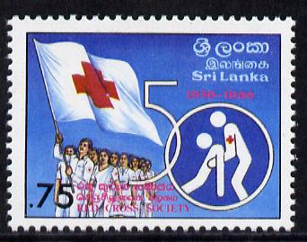 Sri Lanka 1986 Red Cross Anniversary unmounted mint, SG 928