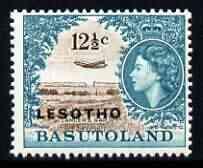 Lesotho 1966 DH-106 Comet over Lancers Gap 12.5c (wmk Block CA) unmounted mint, SG 117B*
