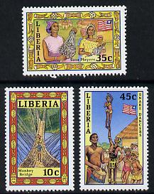 Liberia 1986 Pictorial set of 3, SG 1703-05 unmounted mint