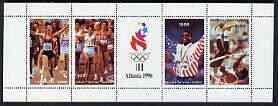 Batum 1996 Atlanta Olympic games perf sheetlet containing 4 values plus label, unmounted mint