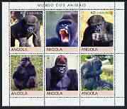 Angola 2000 Primates perf set of 6 unmounted mint