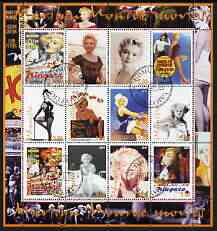 Udmurtia Republic 2004 Marilyn Monroe perf sheetlet #1 containing set of 12 values fine cto used