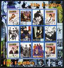 Komi Republic 2004 The Beatles perf sheetlet containing set of 12 values fine cto used