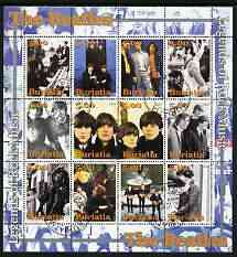 Buriatia Republic 2004 The Beatles #2 perf sheetlet containing set of 12 values fine cto used