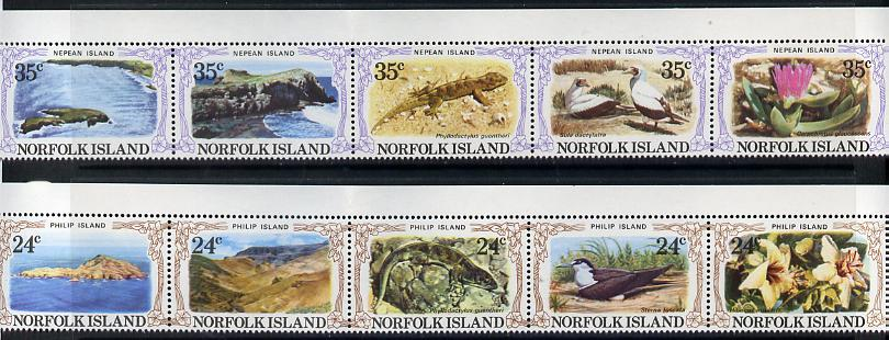Norfolk Island 1982 Philip & Nepean Islands set of 10 unmounted mint, SG 274-83