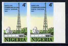 Nigeria 1971 Opening of Earth Satellite Station 4d Mast & Dish unmounted mint imperf pair, as SG 266