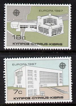 Cyprus 1987 Europa (Modern Architecture) set of 2 unmounted mint, SG 704-05*