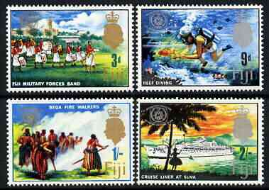 Fiji 1967 International Tourist Year perf set of 4 unmounted mint, SG 360-63