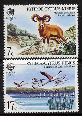 Cyprus 1986 Europa (Nature & Environment Protection) set of 2 unmounted mint, SG 678-79*
