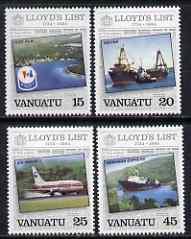 Vanuatu 1984 Lloyds List perf set of 4 unmounted mint SG 381-4