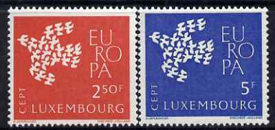 Luxembourg 1961 Europa set of 2 unmounted mint, SG 697-98