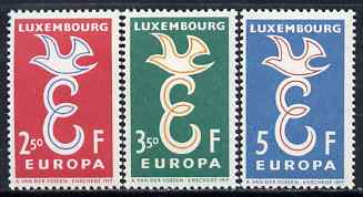 Luxembourg 1958 Europa set of 3 unmounted mint, SG 640-42*