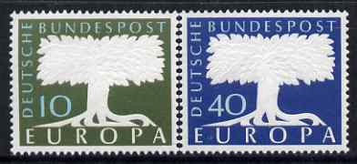 Germany - West 1957 Europa set of 2 unmounted mint, SG 1187-88