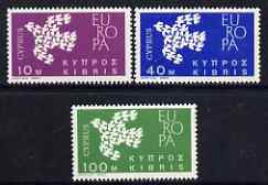 Cyprus 1962 Europa perf set of 2 unmounted mint, SG 206-208