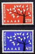 Greece 1962 Europa set of 2 unmounted mint, SG 898-99*
