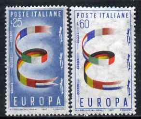 Italy 1957 Europa set of 2 unmounted mint, SG 950-51