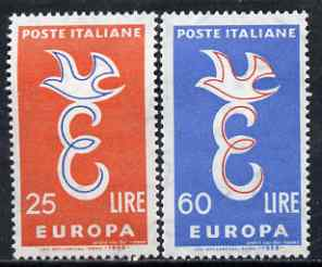 Italy 1958 Europa set of 2 unmounted mint, SG 973-74*