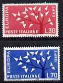 Italy 1962 Europa set of 2 unmounted mint, SG 1081-82