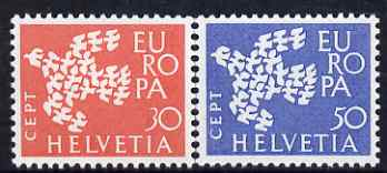 Switzerland 1961 Europa set of 2 unmounted mint, SG 653-54*