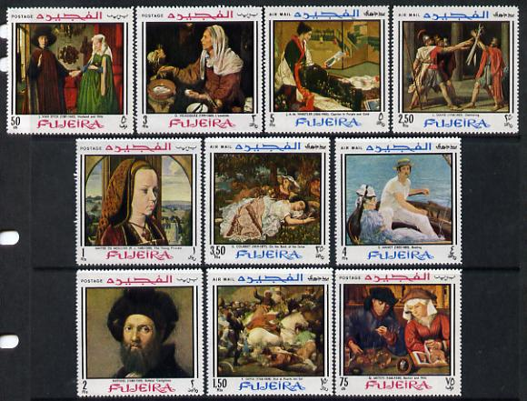 Fujeira 1968 Paintings perf set of 10 unmounted mint (Mi 224-33A)