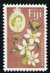 Fiji 1962-67 White Orchid 2s (with Value omitted)  'Maryland' perf 'unused' forgery, as SG 319 - the word Forgery is either handstamped or printed on the back and comes on a presentation card with descriptive notes