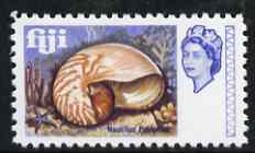 Fiji 1968 Pearly Nautilus 2d (with Value omitted) modern 'Maryland' perf 'unused' forgery, as SG 373 - the word Forgery is either handstamped or printed on the back and comes on a presentation card with descriptive notes