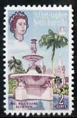 St Kitts-Nevis 1963 Pall Mall Square 2c (with white Fountains & Church)