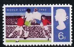 Great Britain 1966 World Cup Football 6d with black omitted