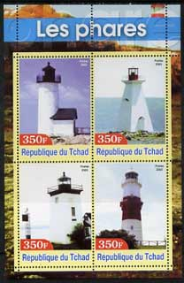 Chad 2003 Lighthouses #1 perf sheetlet containing 4 values unmounted mint