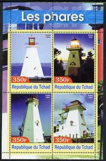 Chad 2003 Lighthouses #2 perf sheetlet containing 4 values unmounted mint