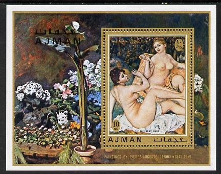 Ajman 1971 Nude Paintings by Renoir perf m/sheet unmounted mint Mi Bl 278A