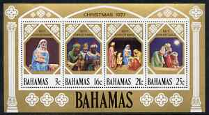 Bahamas 1977 Christmas perf m/sheet, unmounted mint SG MS 509