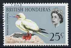 British Honduras 1962 Red-Footed Booby 25c very fine cds used, SG 209