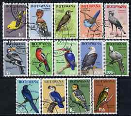 Botswana 1967 Birds definitive set 14 values complete very fine cds used, SG 220-33