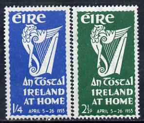Ireland 1953 An Tostal (Ireland at Home) Festival set of 2 unmounted mint, SG 154-55