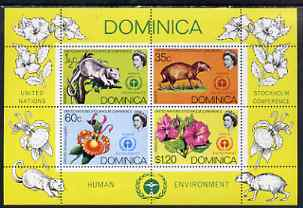 Dominica 1972 UN Conference on the Human Environment perf m/sheet unmounted mint, SG MS 356