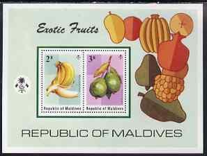 Maldive Islands 1975 Fruits perf m/sheet unmounted mint, SG MS567