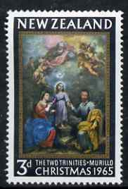 New Zealand 1965 Christmas 3d (Two Trinities by Murillo) unmounted mint, SG 834*