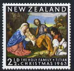 New Zealand 1963 Christmas 2.5d (Holy Family by Titian) unmounted mint, SG 817*