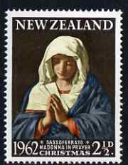 New Zealand 1962 Christmas 2.5d (Madonna in Prayer by Sassoferrato) unmounted mint, SG 814*